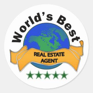 World's Best Real Estate Agent Round Sticker