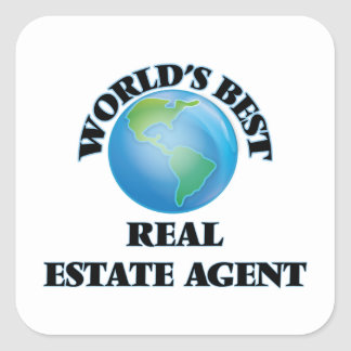 World's Best Real Estate Agent Square Stickers