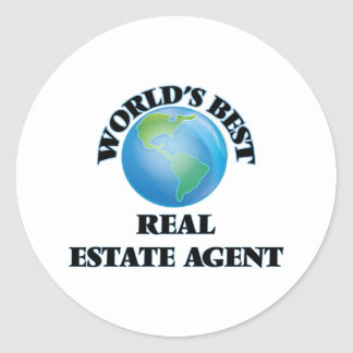 World's Best Real Estate Agent Round Stickers