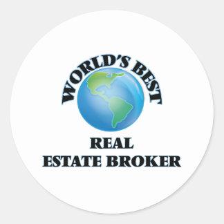 World's Best Real Estate Broker Round Stickers