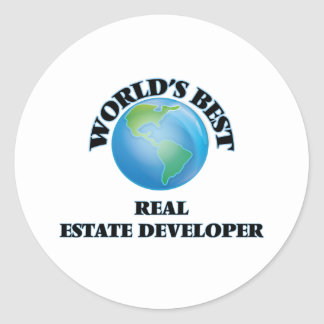World's Best Real Estate Developer Round Stickers