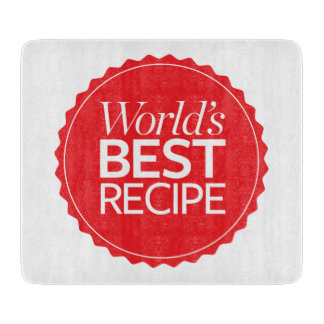 World's Best Recipe Cutting Board