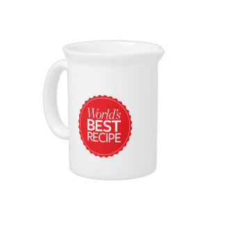 World's Best Recipe Pitcher