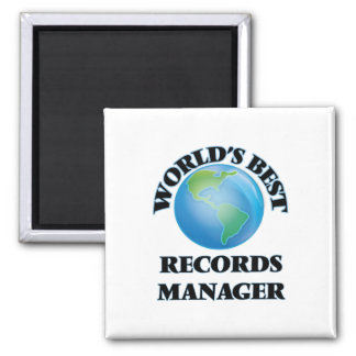 World's Best Records Manager Fridge Magnet