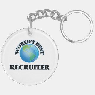 World's Best Recruiter Acrylic Key Chain
