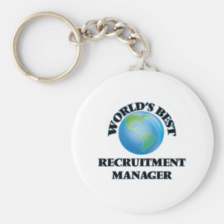 World's Best Recruitment Manager Key Chains