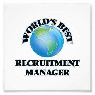 World's Best Recruitment Manager Photo Art