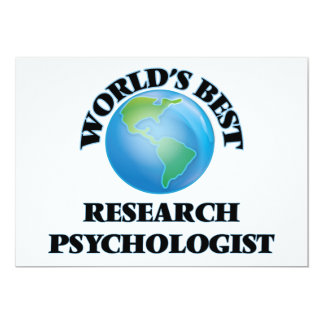World's Best Research Psychologist Cards