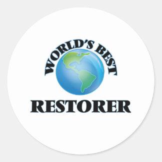 World's Best Restorer Round Sticker