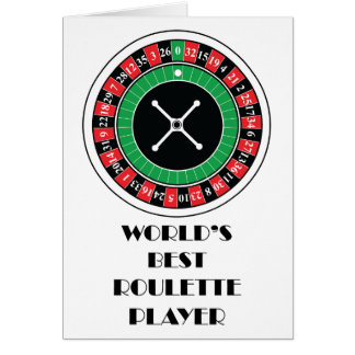 World's Best Roulette Player Greeting Card