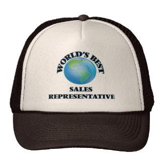 World's Best Sales Representative Mesh Hats