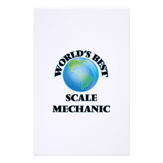 World's Best Scale Mechanic Stationery Paper