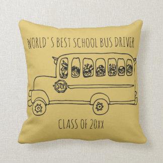 World's Best School Bus Driver Add Year Cushion