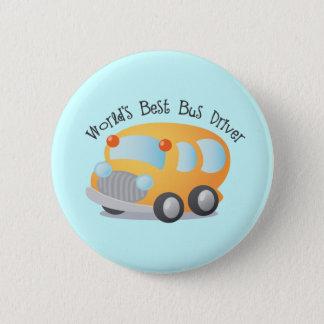 World's Best School Bus Driver Gift 6 Cm Round Badge
