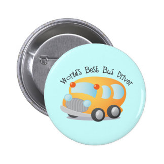 World's Best School Bus Driver Gift 6 Cm Round Badge