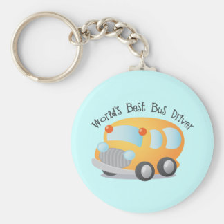 World's Best School Bus Driver Gift Basic Round Button Key Ring