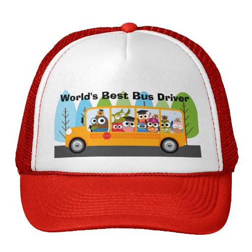 World's Best School Bus Driver Trucker Hats