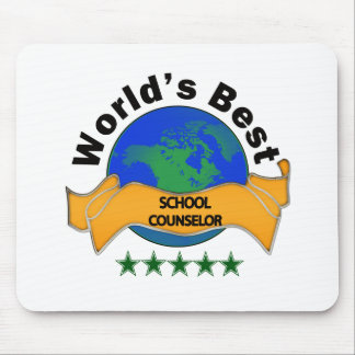 World's Best School Counselor Mouse Mat
