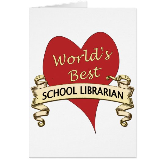 World's Best School Librarian Card