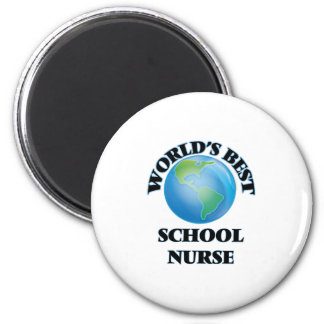 World's Best School Nurse 6 Cm Round Magnet
