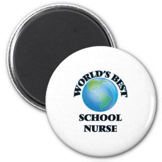 World's Best School Nurse 6 Cm Round Magnet