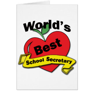World's Best School Secretary Card