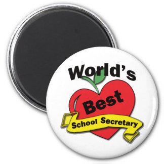 World's Best School Secretary Refrigerator Magnets