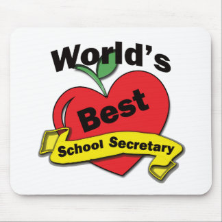 World's Best School Secretary Mouse Mat