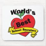 World's Best School Secretary Mouse Pad