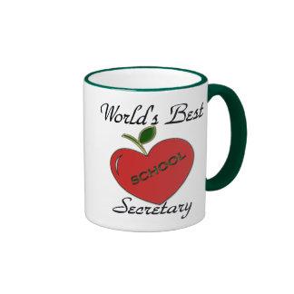 World's Best School Secretary Ringer Mug