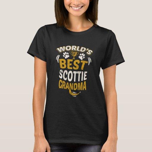 Image of World's Best Scottie Grandma T-shirt