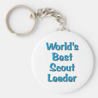 World's best Scout Leader merchandise Basic Round Button Key Ring
