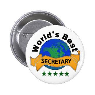 World's Best Secretary 6 Cm Round Badge