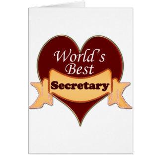 World's Best Secretary Card