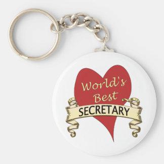 World's Best Secretary Key Ring