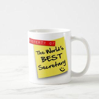 World's Best Secretary Post Basic White Mug
