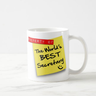 World's Best Secretary Post Coffee Mug