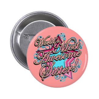 Worlds Best Sister 6 Cm Round Badge