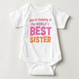 World's Best Sister Baby Bodysuit