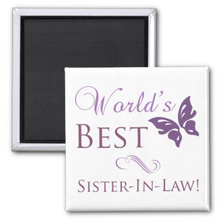 World's Best Sister-In-Law Square Magnet