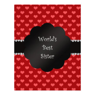 World's best sister red hearts custom flyer