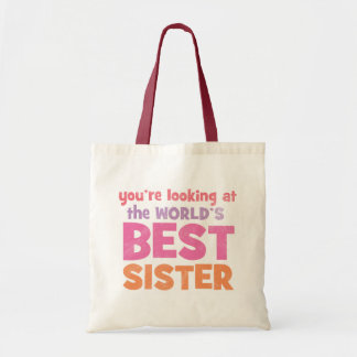 World's Best Sister Tote Bag