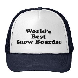 World's Best Snow Boarder Cap