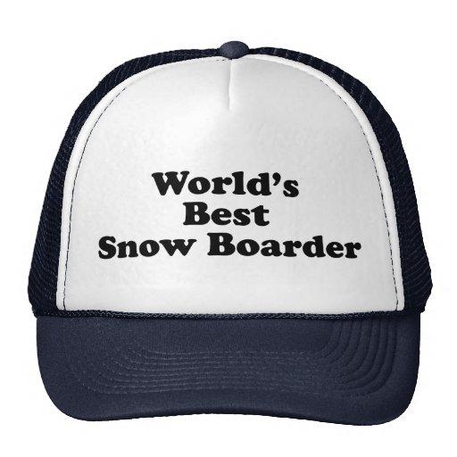 World's Best Snow Boarder Mesh Hat