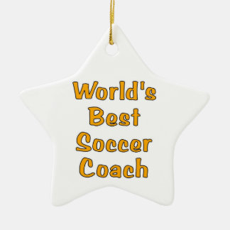World's best soccer coach star ornament