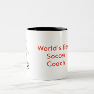 World's Best Soccer Coach Two-Tone Coffee Mug