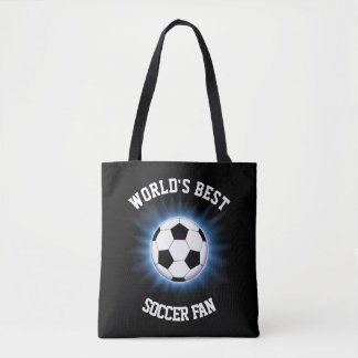 World's Best Soccer Fan All-Over-Print Tote Bag
