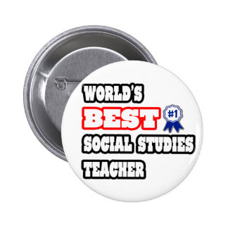 World's Best Social Studies Teacher 6 Cm Round Badge