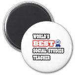 World's Best Social Studies Teacher 6 Cm Round Magnet