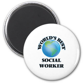 World's Best Social Worker 6 Cm Round Magnet